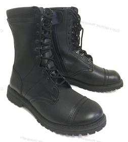 Men's Leather Tactical Boots Black Combat Military Army Work