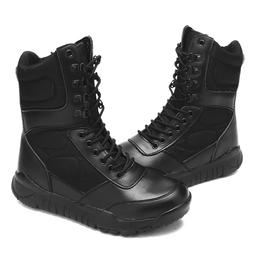 Men's Military Ankle Boots High Top Leather Army Combat SWAT