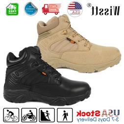 Men's Military Tactical Boots Desert Army Hiking Security Co