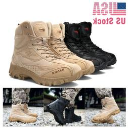 Men's Military Tactical Boots Hiking Combat Side-Zip Army Wo