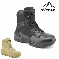men s military tactical work boots side