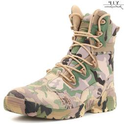 YJP Men's Outdoor Hiking Tactical Military Combat Boots Army