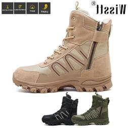 Men's Tactical Duty Boots Side Zip Army Military Combat Work