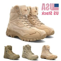 Men's Tactical Military Boots Non-slip Desert Army Hiking Co