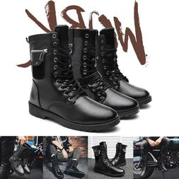 men s vintage ankle combat motorcycle boots