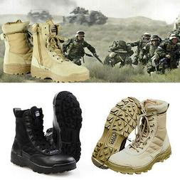 Men Tactical SWAT Military Duty Work Boots Forced Entry Comb
