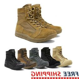 Mens Military Tactical Combat Army Boots Lightweight Hiking