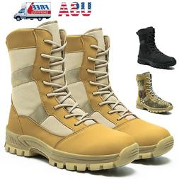 Mens Military Tactical Combat Boots Army Hiking Lightweight