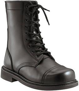 Mens Steel Toe GI Style Black Combat Boots / Boot Sizes 5-13