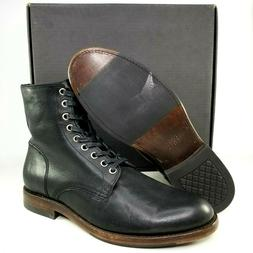 Frye Mens Will Lace Up Combat Boots Size 9 D Black 9 Eye Lea