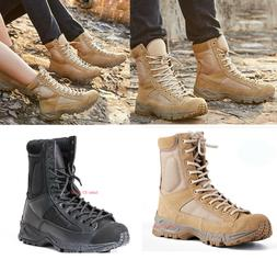Mens Womens Army Tactical Boots SWAT Military Combat Hiking