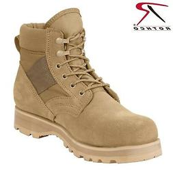"Rothco Military Combat Work Boot - Men's 6"" Desert Tan Tacti"