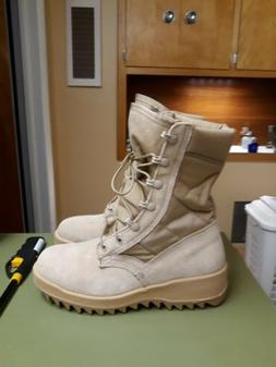 WELLCO Military Desert Tan Combat Boots - Men's sz 6 - US AR
