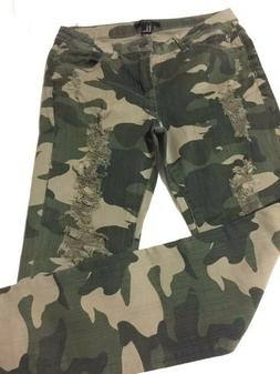 FOREVER 21 Military Long Pants with Tears for Women Size 26