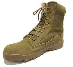 Military Style Combat Boots - Coyote Brown