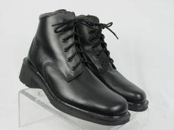 NEW England DR MARTENS Women US-9 Black Leather 6 Eye Ankle