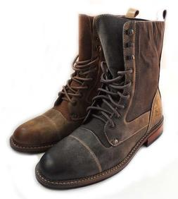 NEW FASHION MENS 8-INCH  HIGH  ANKLE BOOTS MILITARY COMBAT S