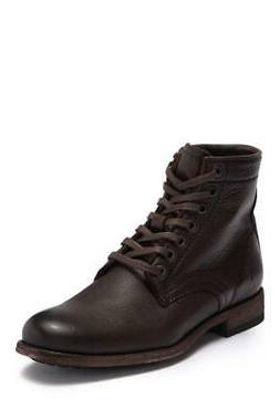 New in Box - $298 FRYE Tyler Brown Leather Lace Up Combat Bo