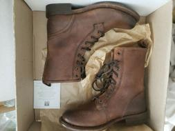 New in Box Womens Frye Jenna Combat Lace Boot Cognac $ 328 S