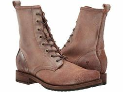New in Box Frye Womens Veronica Combat Lace Boots Chocolate