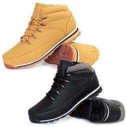 New Mens Lace Up Boots Winter Boys Combat Hiking Work High T