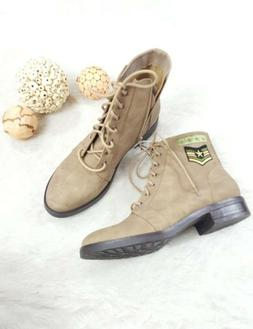 New Madden Girl Steve Madden Combat Military Boots Taupe San