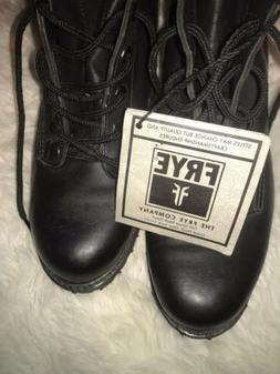 NEW Frye Tyler Black Lace Up Leather Ankle Combat Boots Wome