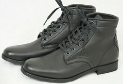 New FRYE Tyler Black Lace Up Soft Leather Ankle Combat Boots