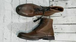 NEW Frye Tyler Brown Lace Up Combat Boots Women's Size 8