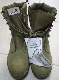 NEW USGI Hot Weather Combat Boots Style 798 COYOTE 8.5W  V1