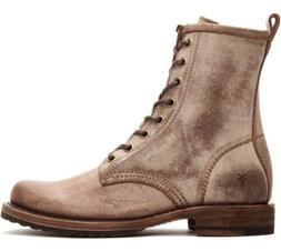 NEW Frye Veronica Combat Lace-up Boots Chocolate 8