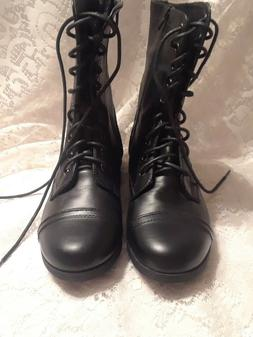 NEW -CATO Women  Lace-up & Zipper  Military Boots Army Comba