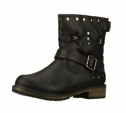 NEW! Skechers Women's ASAP Star Combat Ankle Height Boots Bl