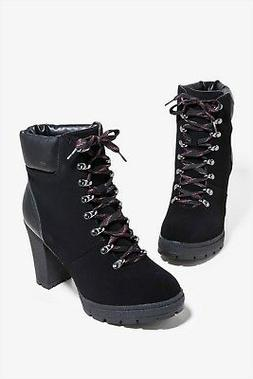 New Women's Lace Up Combat Ankle Booties Boot Lug Sole Platf