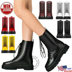 new womens lace up combat boots low