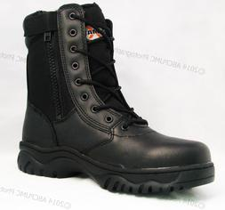 "NIB Men's Tactical Boots 8"" Black Combat Military Work Shoes"