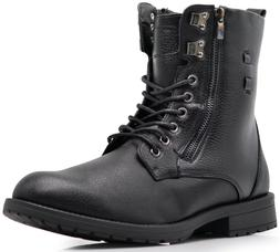 NIB MEN Winter Military Ankle Mid Calf Snow Boots Lace Up Co