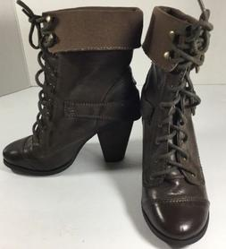 NWOT Steve Madden AWOLL Women's Combat  Lace Up Ankle Boots