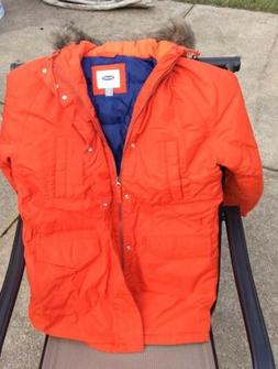 Nwt's Mens Old Navy Small Expedition Orange With Faux Ruff H