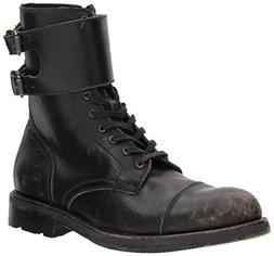 FRYE Men's Officer Cuff Boot Combat, Black, 10 D US