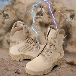 Outdoor Men Leather Tactical Boots Military Combat Army Dese