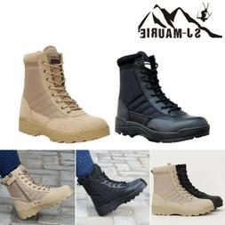 Outdoor Shoes Hiking Mens Leather Tactical Boots Military Co