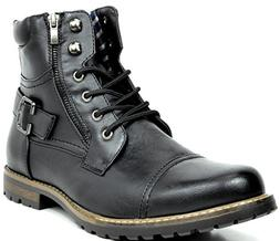 Bruno Marc Men's Philly-3 Black Military Combat Boots - 15 M