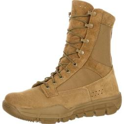 """Rocky RKC042 8"""" Lightweight Coyote Brown Military Service Ta"""