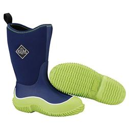 Muck Boots Hale Multi-Season Kids' Rubber Boot,Green/Navy,2