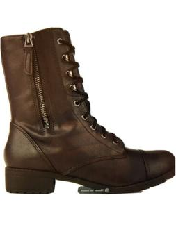Soda Shoes Footer-S Boots Women's Size 9 Black Combat Boots