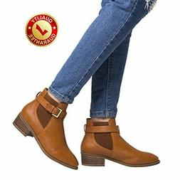 Luoika Short Ankle Boots For Women Winter Spring Chunky Bloc
