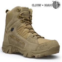 Side Zipper Work Safety Shoes <font><b>Mens</b></font> Army