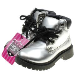 Beverly Hills Princess Size 6 Girls or Boys Silver Combat Bo