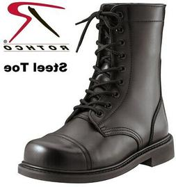 Rothco Steel Toe Boots Military Style Leather Steel Toe Comb